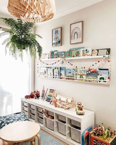 35 Favorite Playroom Design Ideas Must Have For Tiny Spaces - Having a kids playroom has many benefits. To begin with, you'll have a charming and pleasant environment where your little one may spend most of the t. Playroom Design, Playroom Decor, Ikea Kids Playroom, Montessori Playroom, Children Playroom, Toddler Playroom, Bedroom Decor, Baby Room Boy, Baby Boy
