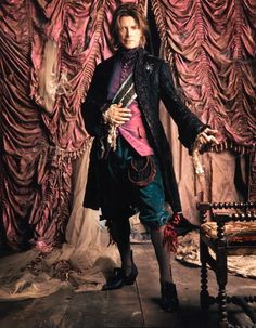 Bowie as Mephistopheles ♥ from the opera Faust by Charles Gounod. Bowie is wearing a slightly altered version of traditional garb, wearing long breeches that come down to his knees with stockings, with a jerkin worn under his cloak/jacket David Bowie, Slim Aarons, David Jones, Charles Gounod, Mark Seliger, Glam Rock, The Thin White Duke, Goblin King, Major Tom