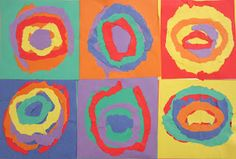 Kandinsky Color using torn paper