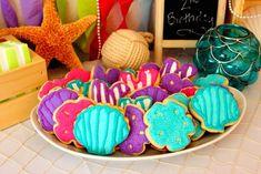 Mermaid Themed 2nd Birthday Party Kids Girl Pink Turquoise Purple Sea Ocean