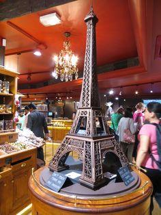 Chocolate Eiffel Tower. Petit Musee du Chocolat.