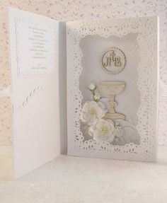 MÓJ ŚWIAT -scrapbooking, decoupage Christening Invitations, Baptism Gifts, First Communion, Confirmation, Decoupage, Hobbies, Baby Shower, Book, Frame