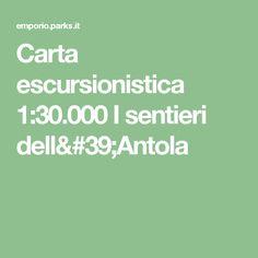 Carta escursionistica 1:30.000 I sentieri dell'Antola