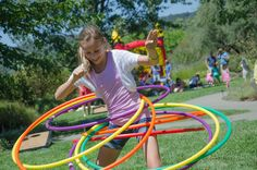 Activities galore to include hula hooping