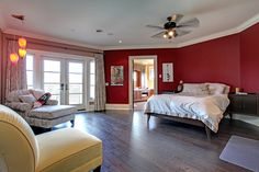 A bright red room offers some great personality to this bedroom. 25 Turtle Lake Drive, Acton