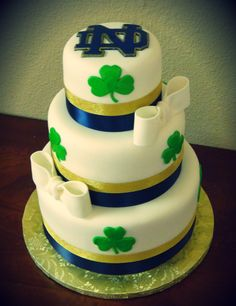 Oh please. Did any of you think I wouldn't somehow incorporate Notre Dame into our wedding?