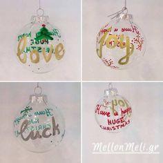 Γυάλινες Χριστουγεννιάτικες Μπάλες Christmas Bulbs, Holiday Decor, Home Decor, Christmas Light Bulbs, Decoration Home, Interior Design, Home Interior Design, Home Improvement