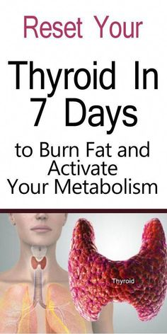 Reset your thyroid in just 7 days and burn fat to activate your fat-burning metabolism. Your thyroid is what helps you burn f Losing Weight Tips, Weight Gain, Weight Loss Tips, Low Thyroid Symptoms, Thyroid Health, Thyroid Diet, Thyroid Cancer, Hypothyroidism Diet, Thyroid Issues