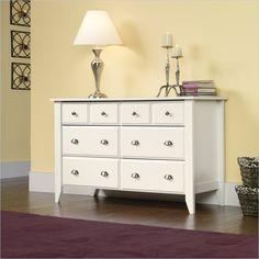 Sauder Shoal Creek Dresser in Soft White Finish - 411201