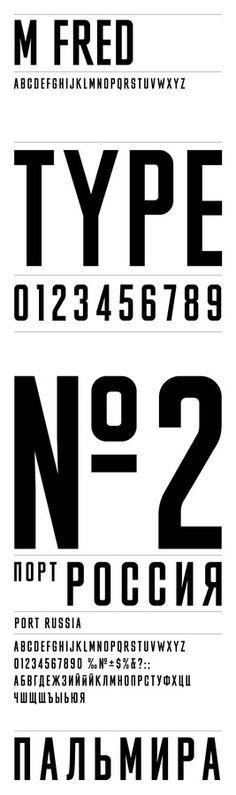 Typographic / MFred Typeface Matt Willey