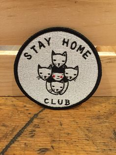 Stay Home Club Iron On Patch from Edge of Urge