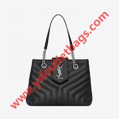 0dc655e678 Saint Laurent Small LouLou Shopping Bag In Y Quilted Leather Black Quilted  Leather