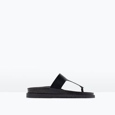 ZARA - SHOES & BAGS - STRAPPY SANDALS WITH FOOTBED