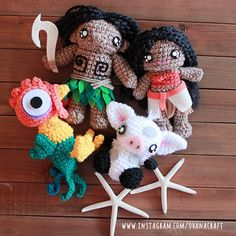 Moana Family inspired crochet dolls Meet Maui, Moanan, Hei Hei and Pua! Follow me: https://www.instagram.com/ohanacraft/