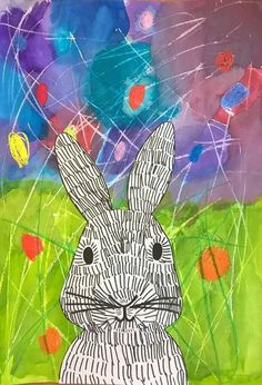 Easter bunny artsonia lesson plan easter art lessons k Poster Graphics, Easter Arts And Crafts, Spring Art Projects, Ecole Art, Design Poster, Easter Activities, Art Classroom, Art Club, Art Plastique