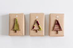 Adorn your presents with these DIY Christmas Tree Gift Toppers | Fellow Fellow