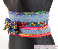 DIY Fashion: Wrap Belt from Old Jeans