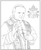 Catholic Coloring Pages. Includes one for JPII