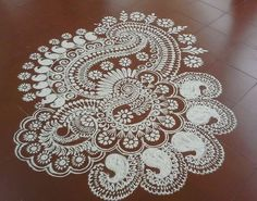Get the best Kolam Rangoli Designs for Ugadi. We have fresh, new and the latest collection of kolam rangoli designs. Pick simple and easy rangoli designs. Simple Rangoli Designs Images, Small Rangoli Design, Rangoli Patterns, Rangoli Ideas, Rangoli Designs Diwali, Kolam Rangoli, Beautiful Rangoli Designs, Dot Patterns, Indian Rangoli