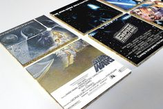Star Wars Trilogy Movie Posters Cork Coasters by OneofaKindbySSD