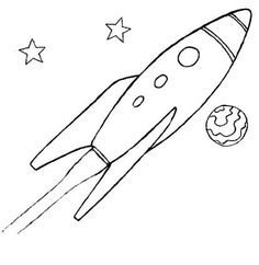 very fun rocket ship coloring pages
