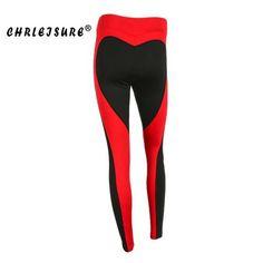 6012da73739b8 CHRLEISURE S-L Heart Shape Leggings Women New Red Black Color Patchwork  Print Leggins Big Size High Elasticity Fitness Leggings. Running  LeggingsWorkout ...