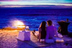 The Rock is one of our most romantic settings: we take care of the details, a bonfire and the sound of the Ocean  #wedding #romance