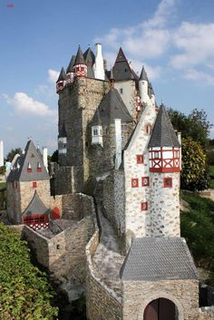 Castle Eltz is located in the hills above the Moselle River between Koblenz and Trier, Germany.  It is still owned by a branch of the same family that lived there in the 12th century.