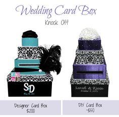 4 Tier Fabric Covered Wedding Card Box
