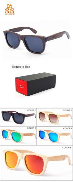 270e12c4cf23 UN-STONE Brand 2016 Fashion Design Women Men Handmade Bamboo Wooden Frame  Polarized Sunglasses With Box.US $19.99 / piece