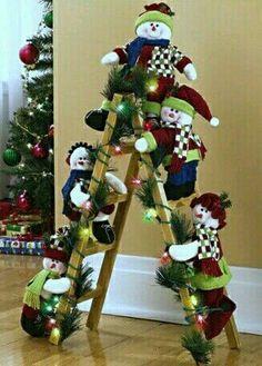 Christmas Crafts Sewing, Handmade Christmas, Holiday Crafts, Christmas Decoration Items, Xmas Decorations, Holiday Decor, Ladder Christmas Tree, Christmas Wreaths, Christmas Ornaments