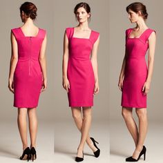 2xHP || Roland Mouret for Banana Republic Dress LIMITED EDITION and NWT, this pink Roland Mouret for Banana Republic sheath dress is adorable, vibrant, and perfect for spring!   There is a very slight discoloration on the area right under neath the right chest, which I've included a photo of.   ✨60% Cotton||35% Viscose||5% Elastane✨ UPDATED 4/18/15: Omg!!! Host Pick for Girly Girl party!!! Thank you eternally @autumnlynn3!  SECOND UPDATE 5/8/16: Host Pick for Style Staples party!!! Thank you…