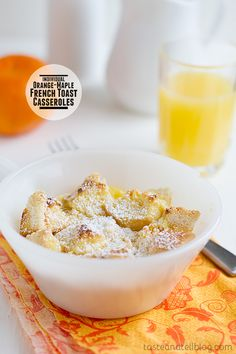 Orange-Maple French Toast Casseroles from @Deborah Harroun {Taste and Tell}