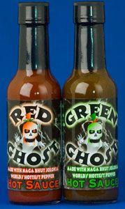 Red & Green Ghost Pepper Hot Sauces