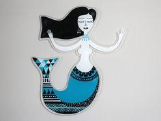 Mermaid | Plexiglass wall art | screenprinted & lazer cutted | 52 x 60 x 0.8 cm