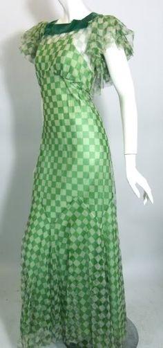 30's mesh and velvet..LOVE the design