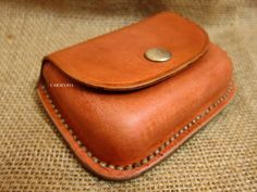 Leather coin purse wallet wet moulded leathercraft by CARACODA on Etsy
