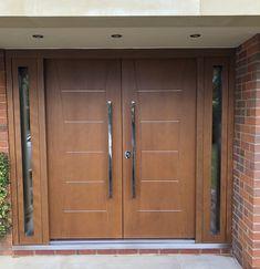 Wooden Front Door Design, Wooden Double Doors, Double Door Design, Sliding Door Design, Wooden Front Doors, Modern Entrance Door, Main Entrance Door Design, Modern Exterior Doors, Entrance Doors