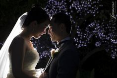 Gorgeous intimate moment with fairy light backdrop