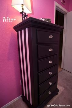 Parisian Dresser Redo - Before and After