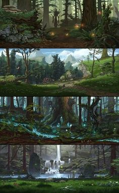 Environment art for Everquest Next , ambience, props and texture details, made as a freelance artist for DayBreak Company. (Art direction of the developpers was the starting point ) Fantasy City, Fantasy Forest, Fantasy Places, Fantasy World, Fantasy Art Landscapes, Fantasy Landscape, Landscape Art, Fantasy Concept Art, Fantasy Artwork