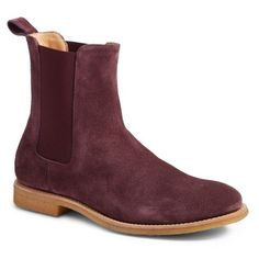 Men's Represent Chelsea Boot ($180) ❤ liked on Polyvore featuring men's fashion, men's shoes, men's boots, prunga burgundy, mens suede chelsea boots, mens suede boots, burgundy mens shoes, mens burgundy boots and mens rugged boots
