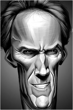 Caricaturas by Daniel Alho / Clint Eastwood