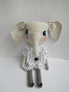 elodie elephant ♥ clothandthread - perfect for my cousin? Her name is Elodie <3