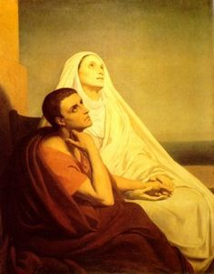 Sts. Monica and Augustine:  The faithful mother whose prayers for her lost son were answered by God in spades is the model of all mothers with children who have strayed from their Father and His Son.  And because of her prayers, one of the greatest sinners became one of the greatest saints.