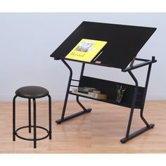 Studio Designs Eclipse Drafting and Hobby Craft Table with Stool