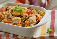 BOCCONCINI DI POLLO ALLE VERDURE ~ Pollo alle verdure in padella, un secondo piatto semplice, veloce, da preparare anche in anticipo. Bocconcini di pollo con tante fresche verdure,