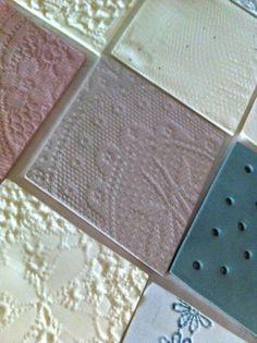 Diamond shaped colored tex-tiles #diamonshape #diamond #triangle #tiles #pastel…