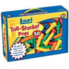 Lauri Toys Tall-Stacker Pegs 50 - Re-pinned by #PediaStaff.  Visit http://ht.ly/63sNt for all our pediatric therapy pins