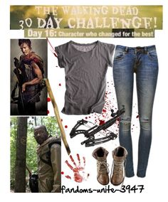 Day 16: Daryl and maybe Morgan I still have yet to decide by fandoms-unite-3947 on Polyvore featuring Velvet and Anine Bing